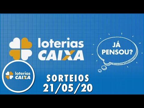 Quina, Dia de Sorte, Dupla Sena e Timemania 21/05/2020
