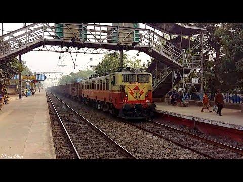Speed Show by ASN WAG-5 59 Wagon BOXN HS Load - Howrah - Burwan Main Line