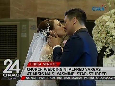 24 Oras: Church wedding ni Alfred Vargas at misis na si Yasmine, star-studded