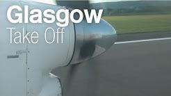 FlyBe/Loganair ✈ Saab 2000 G-LGNO ✈ Glasgow Departure 【HD 1080p】