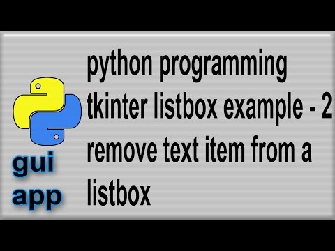 Listbox example in Python tkinter remove, delete item from