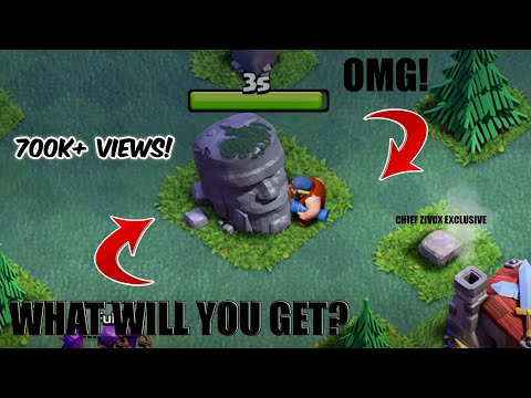 OMG! What Is Behind This Old Barbarian Statue! Revealing In This Video !|Clash Of Clans|Zivox|