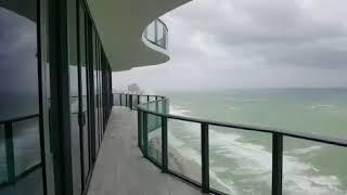 Raw Footage Hurricane Irma  Miami Beach