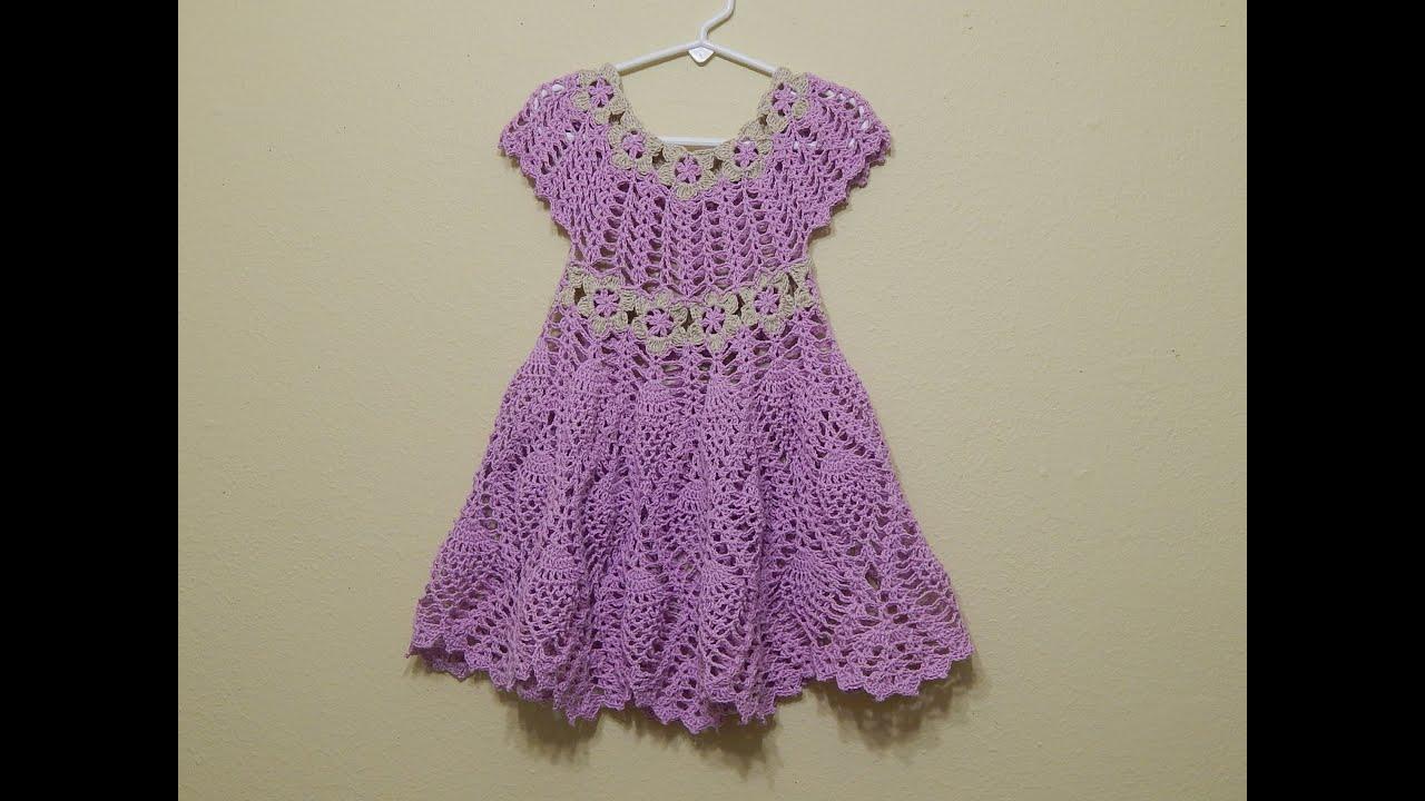 vestido crochet flores y pi as parte 2 de 2 youtube. Black Bedroom Furniture Sets. Home Design Ideas