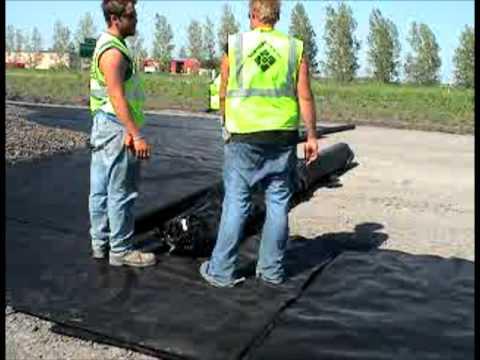 Geotextile Fabric Laying Process