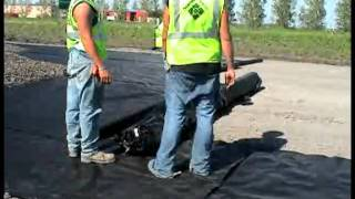 Geotextile Fabric Laying Process