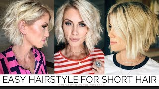 Easy Hairstyle For Short Hair