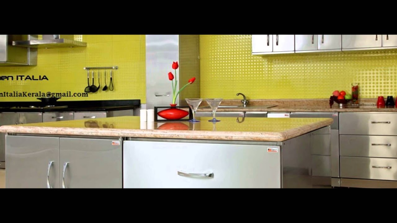 Stainless steel finish modular kitchen aluva ph for Stainless steel modular kitchen designs