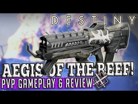 Destiny | AEGIS OF THE REEF! - Pulse Rifle PvP Gameplay & Review!