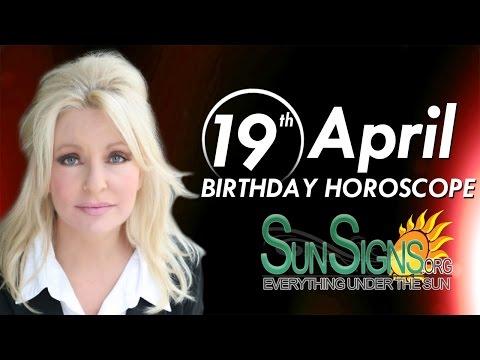 April 19th Birthdays Personality Horoscope