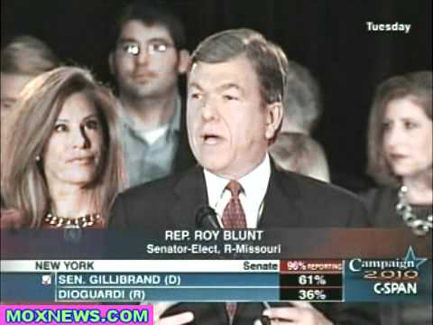 Congressman Roy Blunt Victory Speech For Missouri Race