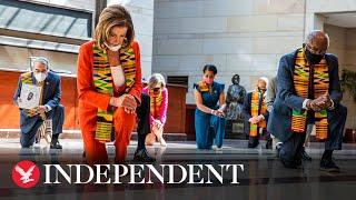 Democrats kneel for length of time officer knelt on George Floyd's neck