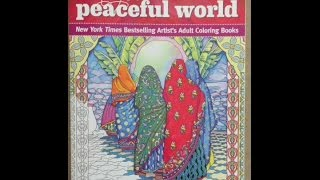 Marty Noble's Peaceful World: New York Times Bestselling Artists' Adult Coloring Books flip through