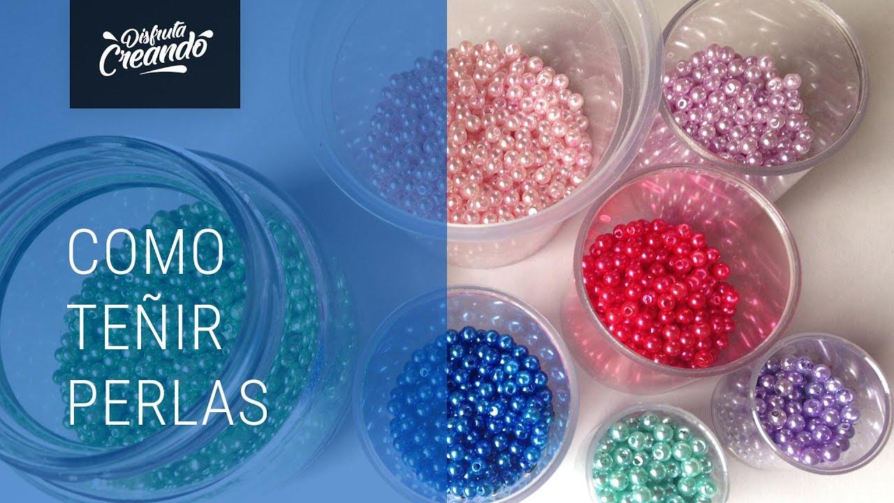 Como Teñir Perlas y Reciclar Marcos de Fotos - YouTube