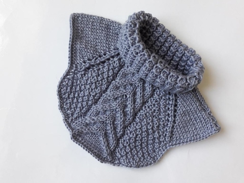 Схема вязания манишки для мальчика 624