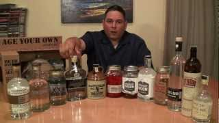 "A 12 Bottle White Dog ""Moonshine"" Tasting"
