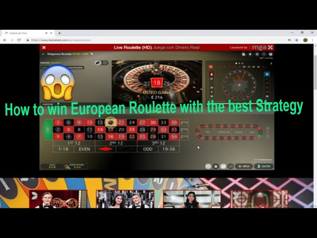 ⭐️ How to win European Roulette with the best Casino Strategy✔️