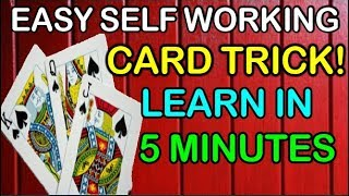 EASY SELF WORKING CARD TRICK YOU CAN LEARN AT HOME! [IN HINDI]