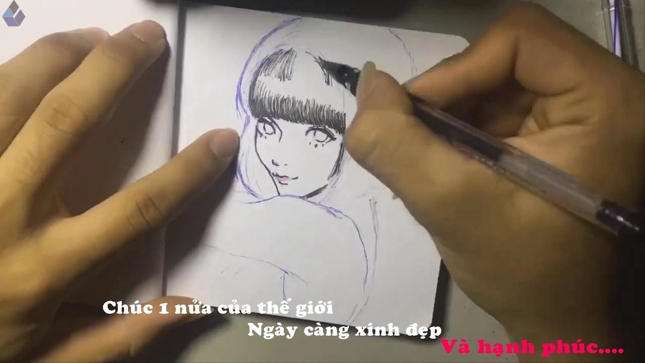 Tranh thủ vẽ mừng ngày phụ nữ 20/10   Kính Cường Lực Sài Gòn   Hotline: 0966660927
