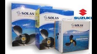 распаковка и установка гребного винта SOLAS (411109310А) шаг 10 на SUZUKI DT15