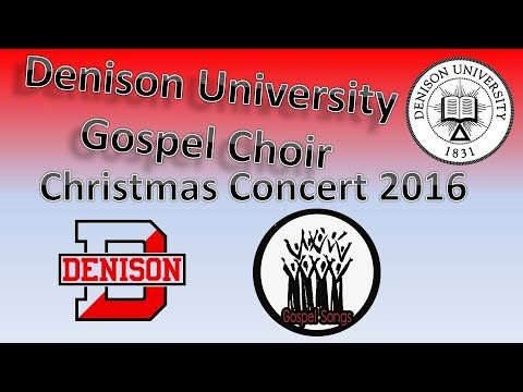 Denison University Gospel Choir Christmas Concert Dec 2016
