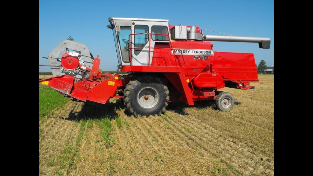 Massey Ferguson Combines : Massey ferguson combine sold on ohio auction