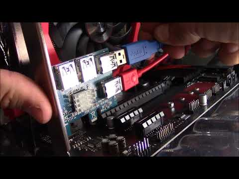 Ubit 4-1 PCIE Adapter Splitter Install More Gpus