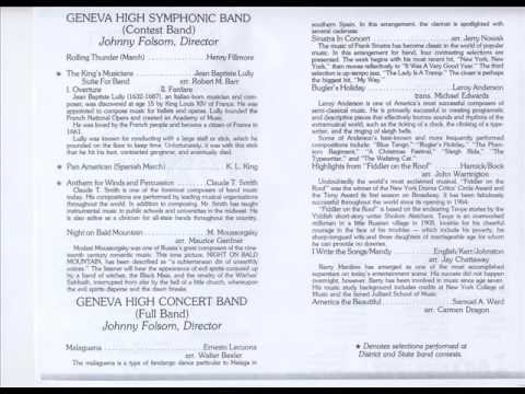 Highlights from Fiddler on the Roof 1982 GHS Concert Band