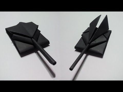 Paper Tank - How to make a paper tank - DIY - Easy Steps - Origami Paper war tank