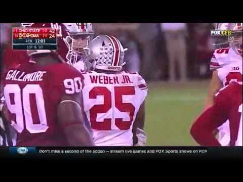 Mike Weber's Highlights vs Oklahoma (2016)