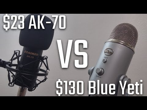 23 Aokeo Ak 70 Condenser Mic Vs 130 Blue Yeti Microphone Youtube