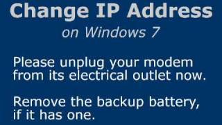 Repeat youtube video Change IP Address on Windows 7