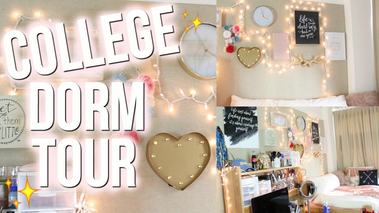 College Dorm Room Tour ♡ UCLA (Deluxe Double Gardenia)   YouTube Part 11