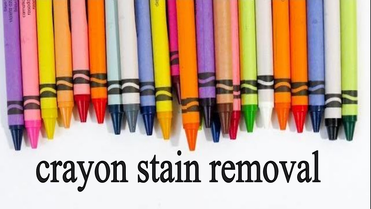 crayon stain removal finest how to remove melted crayon stains from laundry steps with how to. Black Bedroom Furniture Sets. Home Design Ideas