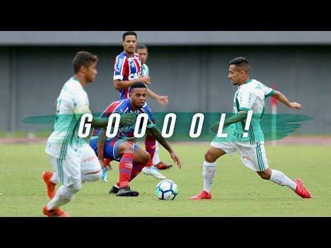 Palmeiras goleia o Bahia pela Copa do Brasil Sub-20