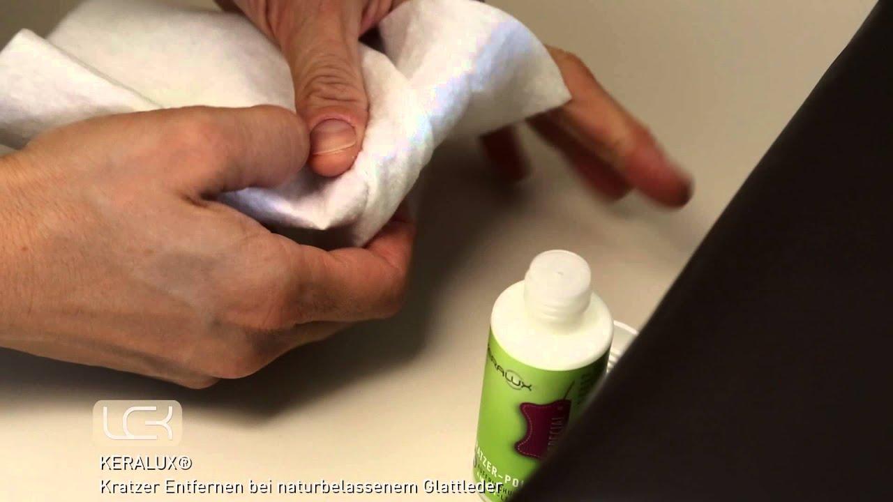 Kratzer auf naturbelassenem Leder entfernen