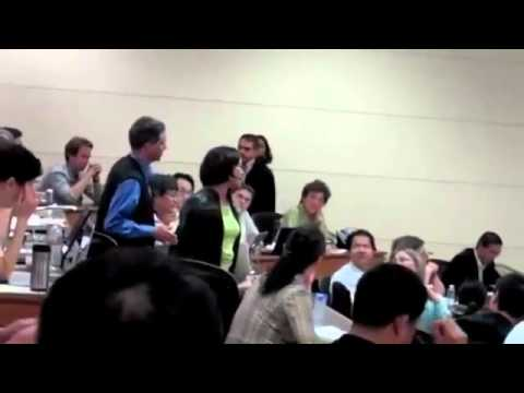 Student Confronts Condoleezza Rice at Stanford University In