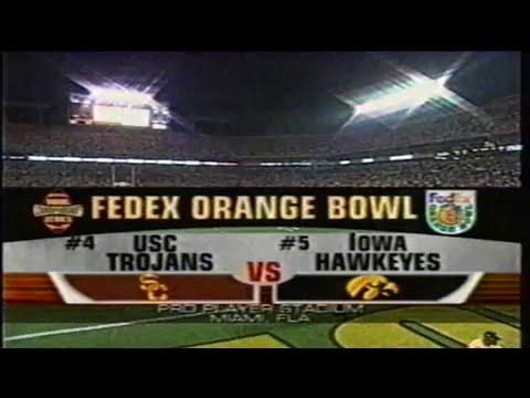 2003 FedEx Orange Bowl: #4 USC vs #5 Iowa (original ABC broadcast)