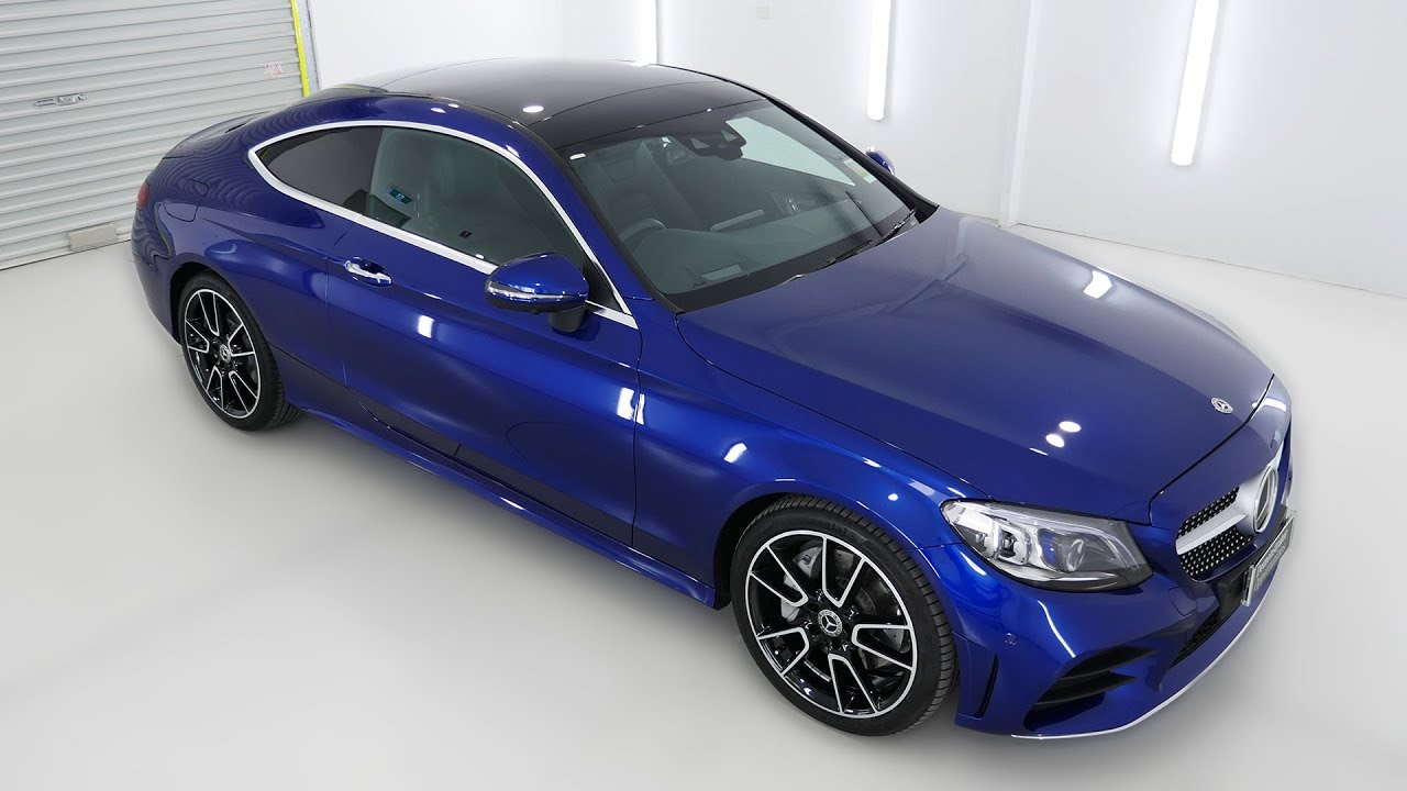 MERCEDES-BENZ C300 Brilliant Blue Coupe M822186 - YouTube