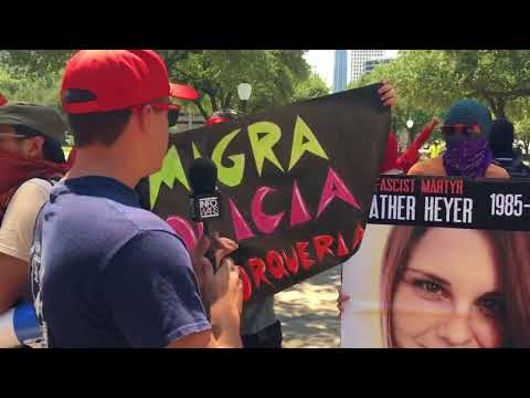 Jake Lloyd Confronts Armed Communists At Anti Trump Protest