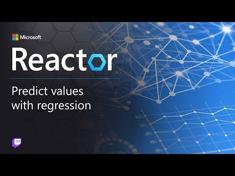 Predict values with regression