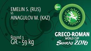 Download Video Round 3 GR - 59 kg: S. EMELIN (RUS) df. M. AINAGULOV (KAZ) by TF, 9-0 MP3 3GP MP4