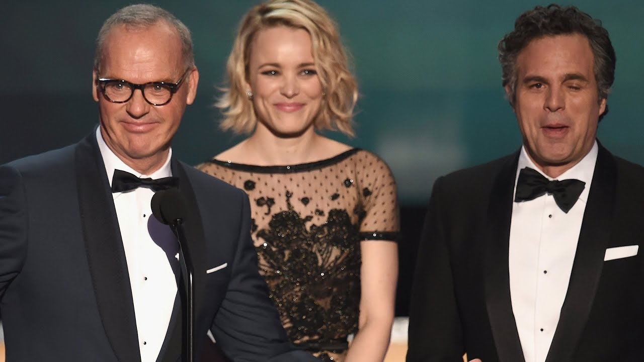 spotlight takes home best movie cast at sag awards 2016 youtube
