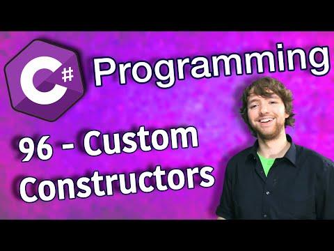 C# Programming Tutorial 96 - Custom Constructors thumbnail