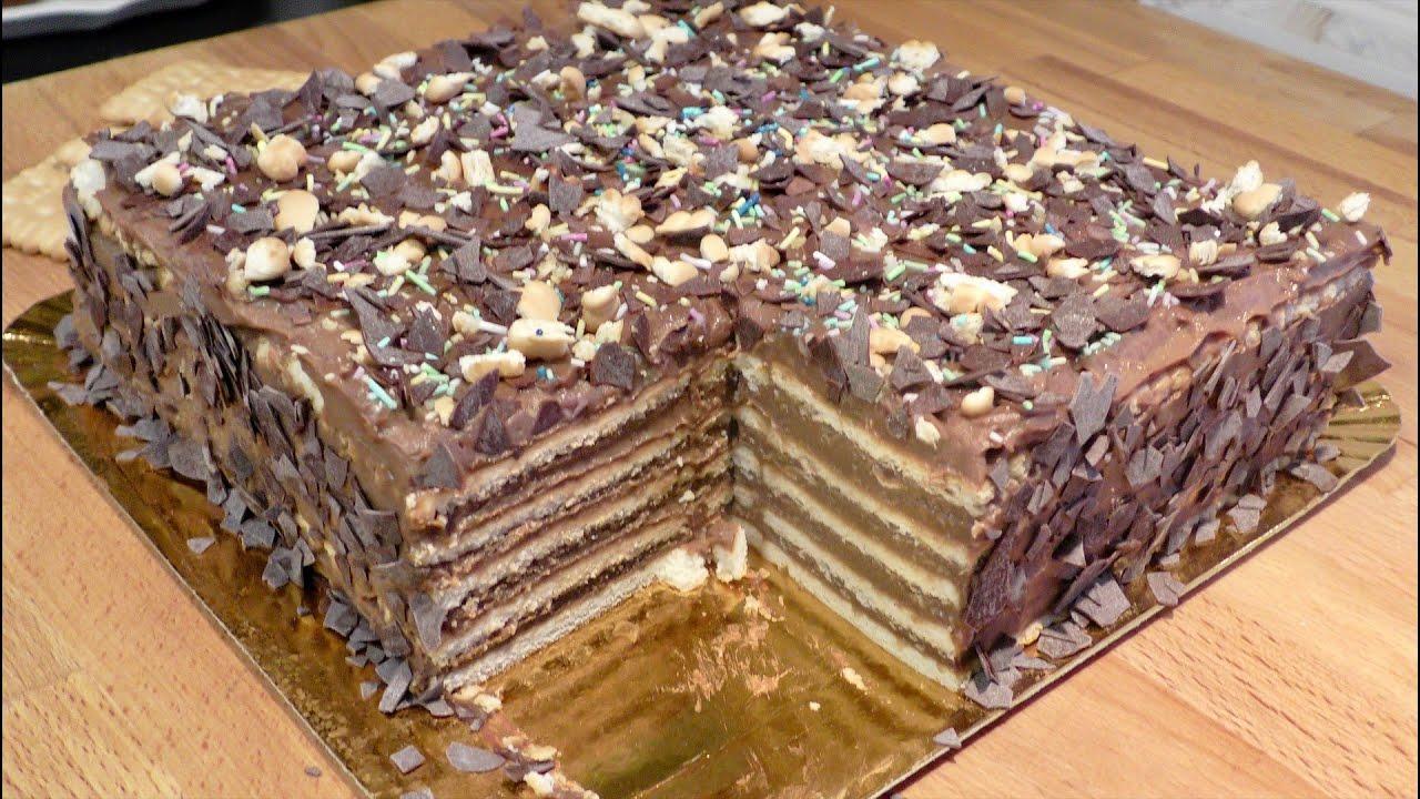 Reteta perfecta a tortului de biscuiti/ The Perfect No-Bake Biscuit Cake Recipe