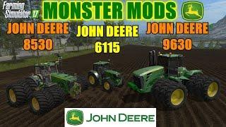 Farming Simulator 17 - Triple John Deere Tractor Showcase (6115, 8530, 9630)