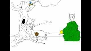 B. C. Farceur dans ''Hot Pied'' (l'homme des cavernes dessin animé)