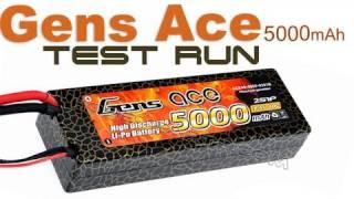Gens Ace 5000mAh 40C 7.4V Lipo Battery Test