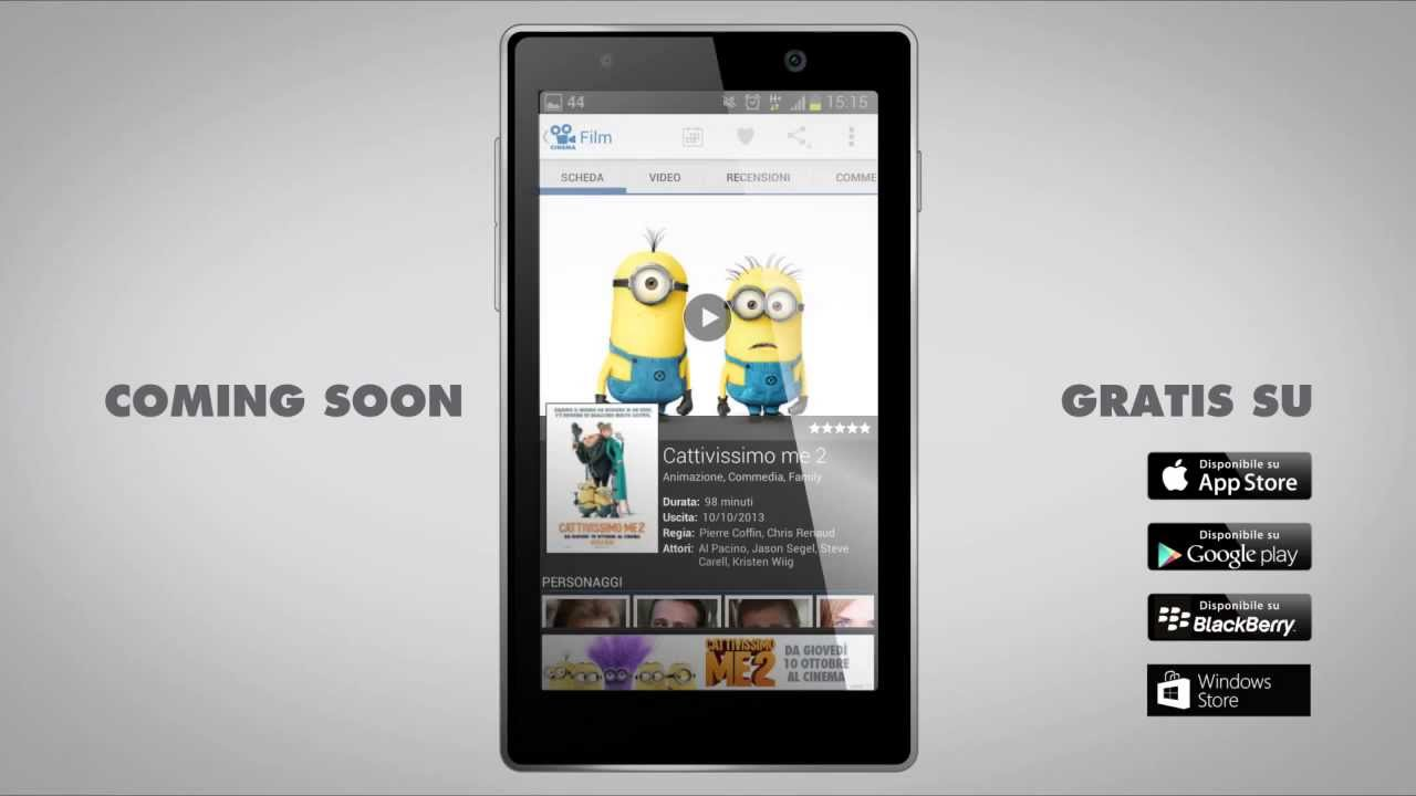 Comingsoon l 39 app per smartphone e tablet che ti porta al - Tre ti porta al cinema ...