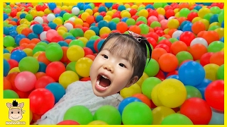 Indoor Playground Fun for Kids and Family Play Rainbow Colors Ball Bumper Car | MariAndKids Toys